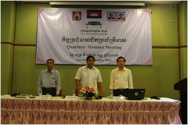 08. The NGO Forum on Cambodias 2016 Quarterly Members Meeting