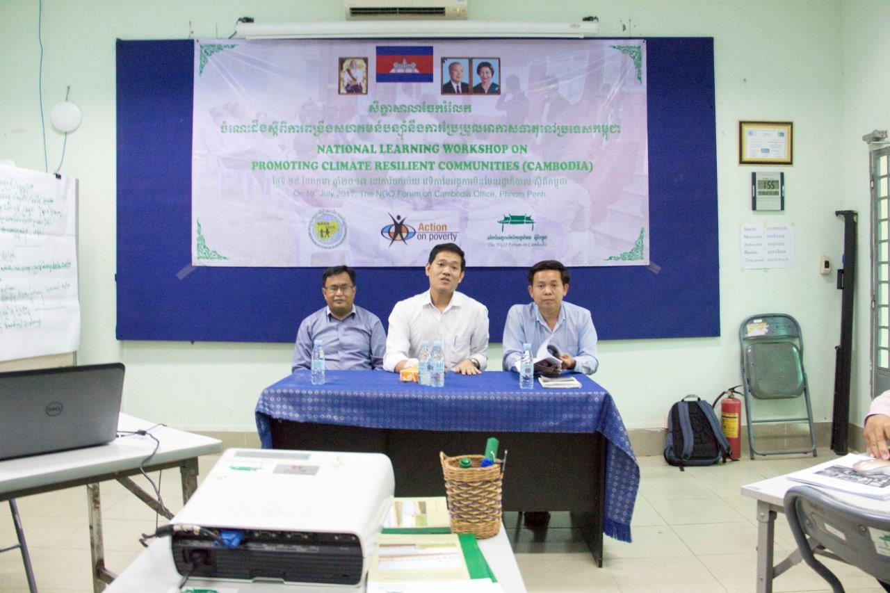National Learning Workshop Promoting Climate Resilient Communities for Cambodia 1